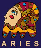 Aries. Zodiac sign  Aries. Vector illustration Royalty Free Stock Photography