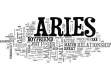 Aries As A Boyfriend Your Sign May Play A Factor Word Cloud Stock Photos
