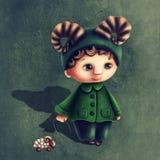 Aries astrologiczna szyldowa chłopiec Fotografia Royalty Free