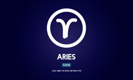 Aries Astrology Horoscope Zodiac Concept Photos stock