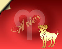 Aries Card royalty free stock image