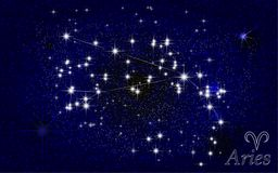 Aries constellation abstract starry sky Royalty Free Stock Photos