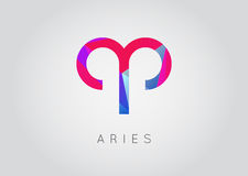 Aries Constellation. Detailed Stylish Zodiac Icon. Modern Style Royalty Free Stock Image
