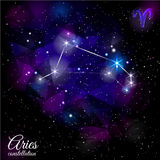 Aries Constellation With Triangular Background Images libres de droits