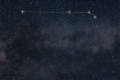 Aries Constellation. Zodiac Sign Aries constellation lines Royalty Free Stock Image