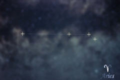 Aries Constellation. Zodiac Sign Aries constellation lines Galax Royalty Free Stock Photography