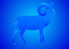 Aries da constelação ilustração stock