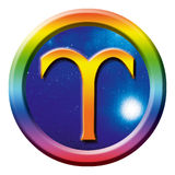 Aries de la muestra de la astrología Imagen de archivo