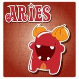 Aries de la muestra del zodiaco Foto de archivo libre de regalías