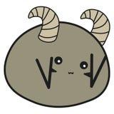 Aries de la muestra del zodiaco del conejito en un estilo de la historieta ilustración del vector