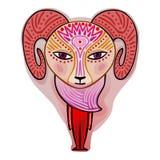 Aries - dekoracyjny zodiaka znak Zdjęcie Royalty Free