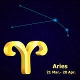 Aries del zodiaco del oro libre illustration