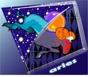 Aries di Astro Illustrazione di Stock