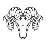 Aries g?owy znak royalty ilustracja