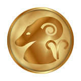 Aries gold medallion drive Stock Photo