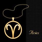 aries golden pendant Стоковые Изображения