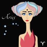 Aries horoscope character Royalty Free Stock Photos