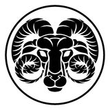 Aries Horoscope Zodiac Sign Images stock