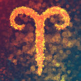 Aries horoskopu znak Ilustracji