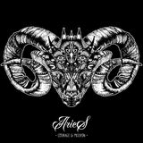 Aries Ink Zenart zodiacal illustration libre de droits