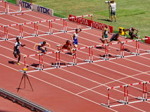 Aries Merritt won the preliminary contest for the 110m Hurdles Royalty Free Stock Image