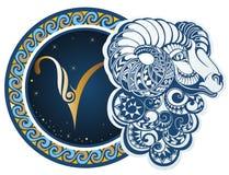 aries podpisuje zodiaka Obraz Stock