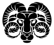 Aries Ram Zodiac Horoscope Astrology Sign stock illustration