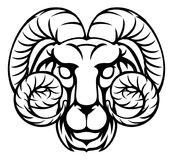 Aries Ram Zodiac Horoscope Sign Photo stock