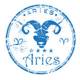 Aries rubber stamp Stock Photos