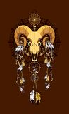 Aries sacred animal emblema Royalty Free Stock Image