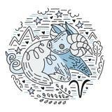Aries Signes зодиака иллюстрация штока