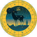Aries signs of the zodiac Royalty Free Stock Images