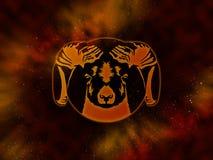 Aries Starfield do zodíaco Foto de Stock