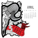 Aries tattoo Royalty Free Stock Photography