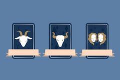 Aries Taurus Διδυμοι Διανυσματική απεικόνιση