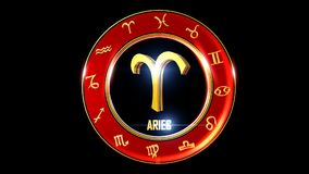 Aries Western Zodiac Symbol stock illustratie