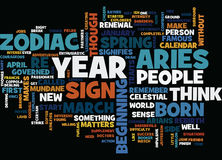 Aries Word Cloud Concept Photo libre de droits