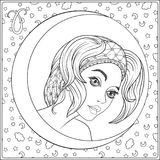 Aries. A young beautiful girl In the form of one of the signs Royalty Free Stock Images