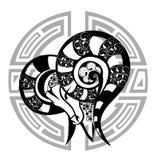 aries zodiac διανυσματική απεικόνιση