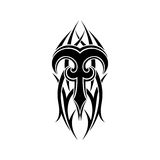 Aries zodiac. Abstract tribal tattoo design. Royalty Free Stock Images