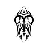 Aries Zodiac Abstraktes Stammes- Tätowierungsdesign lizenzfreie abbildung