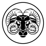 Aries Zodiac Astrology Ram Sign Photo stock