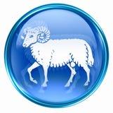 Aries zodiac button icon Royalty Free Stock Photos