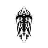 Aries Zodiac Conception tribale abstraite de tatouage Images libres de droits