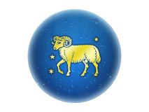 Aries - Zodiac Golden Sign Royalty Free Stock Photography