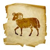 Aries zodiac icon, Royalty Free Stock Image