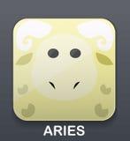 Aries zodiac icon Stock Photo