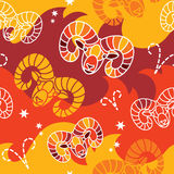 Aries - Zodiac seamless pattern Stock Photos