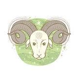 Aries Zodiac Sign Photo libre de droits