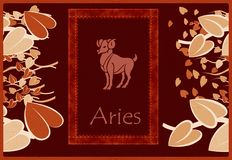 Aries zodiac sign Royalty Free Stock Photos